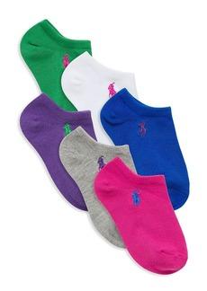Ralph Lauren Little Kid's 6-Pack Multicolor Ankle Socks