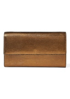 Ralph Lauren Lizard-Embossed Chain Wallet