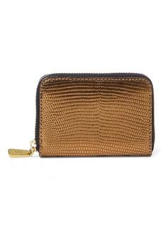 Ralph Lauren Lizard-Embossed Leather Wallet