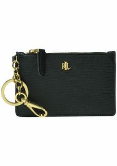 Ralph Lauren Lizard Embossed Zip Card Case Medium