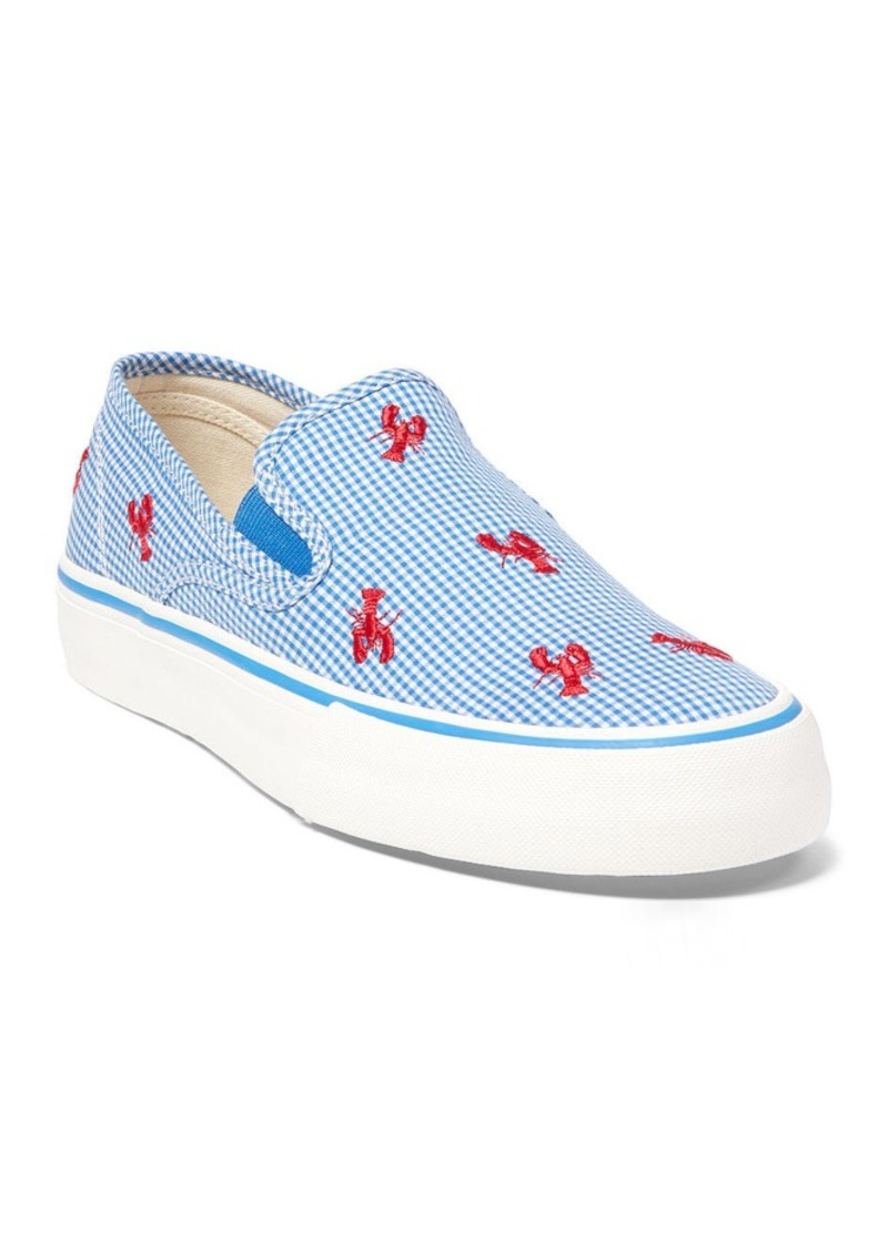 Ralph Lauren Lobster Gingham Canvas Sneaker