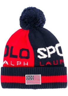 Ralph Lauren logo embroidered beanie hat