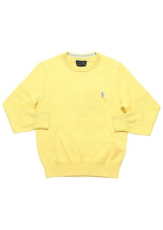 Ralph Lauren Logo Embroidered Knit Cotton Sweater