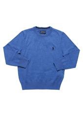 Ralph Lauren Logo Embroidered Knit Cotton Sweater
