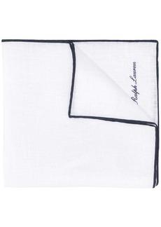 Ralph Lauren logo embroidered pocket square scarf