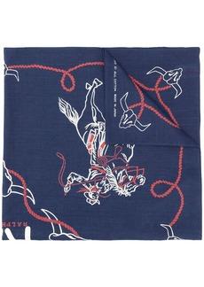 Ralph Lauren logo embroidered scarf