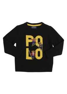 Ralph Lauren Logo Intarsia Wool Knit Sweater