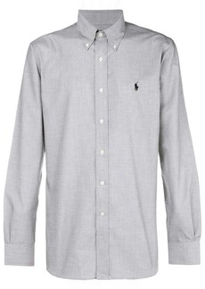 Ralph Lauren logo long-sleeve fitted shirt