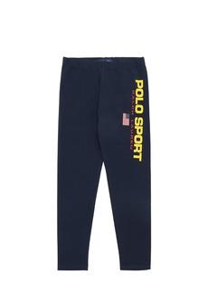 Ralph Lauren Logo Print Cotton Blend Leggings