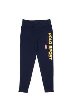 Ralph Lauren Logo Print Cotton Sweatpants