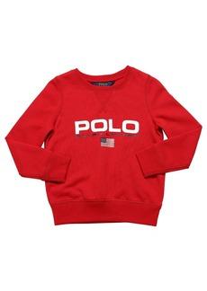 Ralph Lauren Logo Print Cotton Sweatshirt