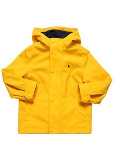 Ralph Lauren Logo Print Hooded Nylon Rain Coat
