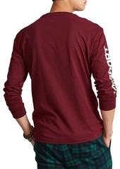 Ralph Lauren Logo-Print Jersey Long-Sleeve T-Shirt