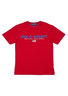 Ralph Lauren Logo Printed Cotton Jersey T-shirt