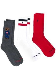 Ralph Lauren logo sock trio