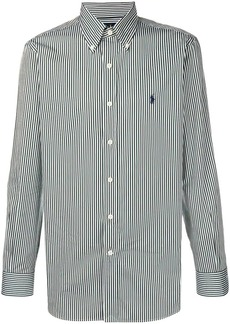 Ralph Lauren logo striped fitted shirt