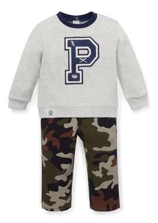 Ralph Lauren Logo Sweatshirt w/ Camo Pants