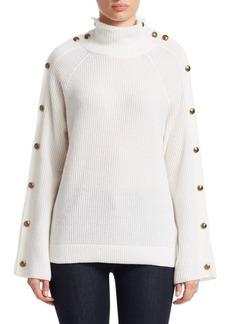 Ralph Lauren Long-Sleeve Button Cashmere Sweater