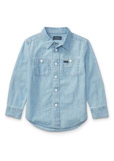 Ralph Lauren Long-Sleeve Chambray Work Shirt