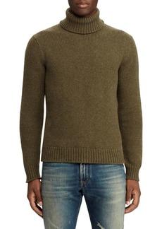 Ralph Lauren Long-Sleeve Melange Turtleneck Sweater
