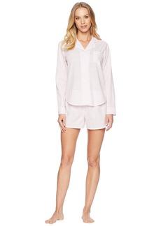 Ralph Lauren Long Sleeve Notch Collar Boxer Pajama Set
