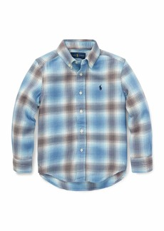 Ralph Lauren Long-Sleeve Plaid Button-Down Shirt  Size 5-7