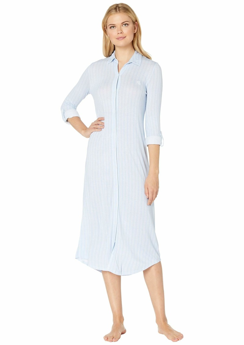 Ralph Lauren Long Sleeve Roll Tab Ballet Sleepshirt