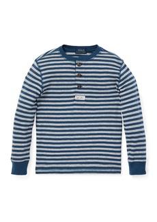Ralph Lauren Long-Sleeve Striped Henley Top  Size 5-7