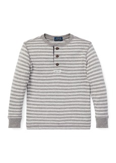 Ralph Lauren Long-Sleeve Striped Henley Top  Size 5-7