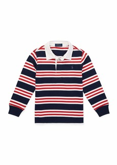 Ralph Lauren Long-Sleeve Striped Rugby Top  Size 5-7