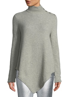 Ralph Lauren Long-Sleeve Turtleneck Cashmere Poncho