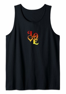 Ralph Lauren Love Designed Calligraphy Font With Heart Tank Top