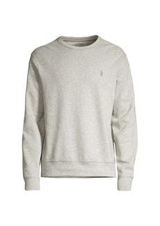 Ralph Lauren Polo Luxury Spa Knit Logo Crew Sweatshirt