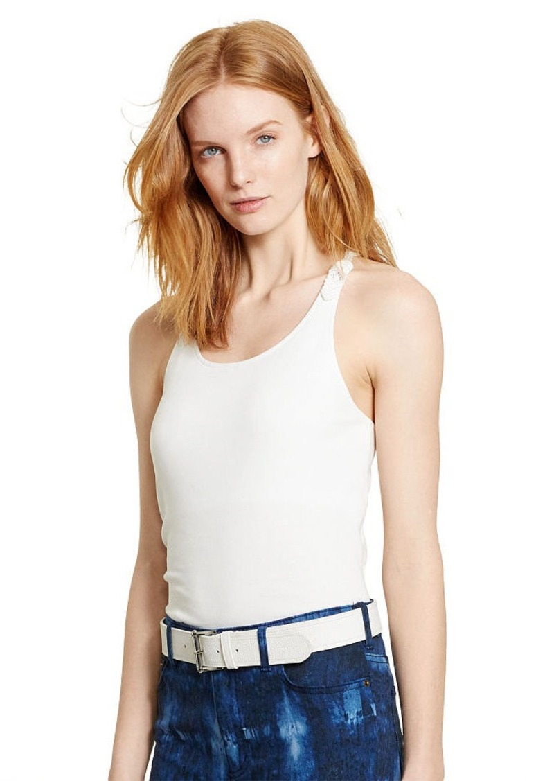 Ralph Lauren Macramé Stretch Cotton Tank