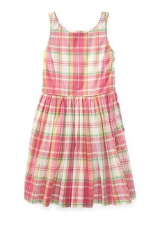 Ralph Lauren Madras Cotton Sleeveless Dress