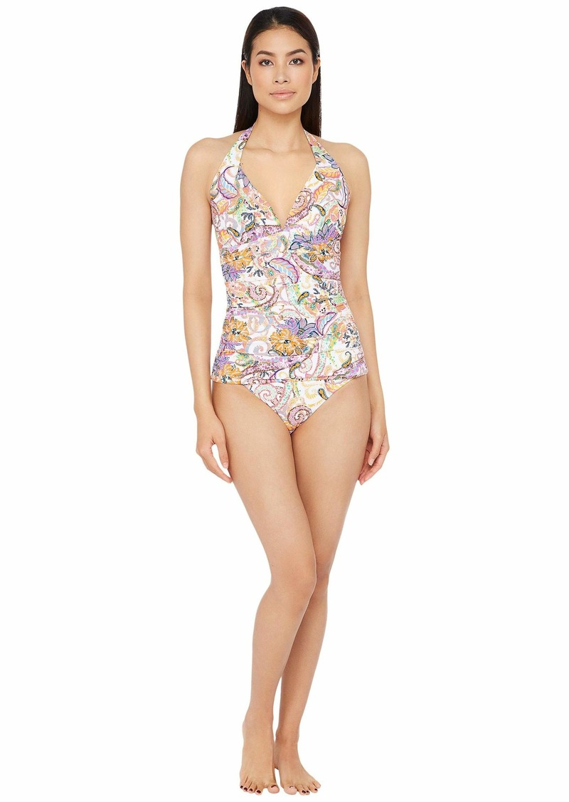 Ralph Lauren Majestic Paisley Molded Cup Halter Tankini Swimsuit Top