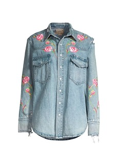 Ralph Lauren: Polo Malak Floral Denim Shirt