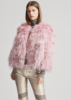 Ralph Lauren Maria Shearling-Feather Jacket