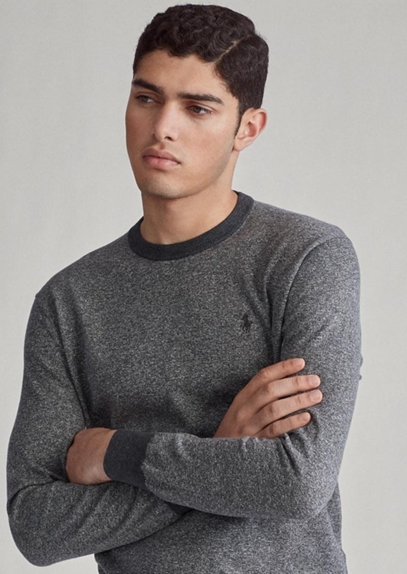Ralph Lauren Marled Cotton Crewneck Sweater