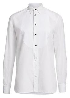 Ralph Lauren Marlie Cotton Tuxedo Shirt