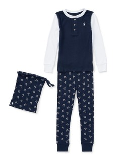 Ralph Lauren Marlin-Print Cotton Pajama Set