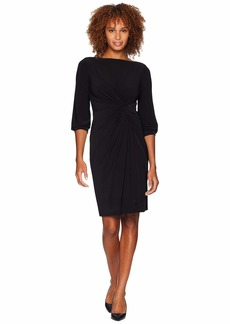 Ralph Lauren Matte Jersey Anavera 3/4 Sleeve Day Dress