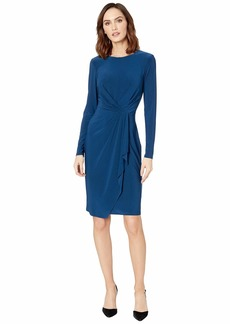 Ralph Lauren Matte Jersey Svetlana Long Sleeve Day Dress