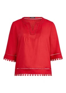 Ralph Lauren Medallion-Lace Top