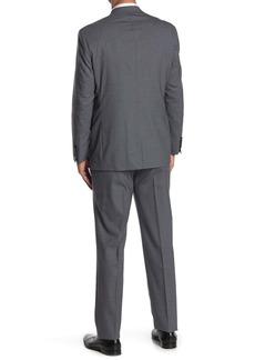 Ralph Lauren Medium Grey Sharkskin Wool 2-Piece Suit