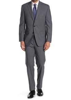 Ralph Lauren Medium Grey Sharkskin Wool 2-Piece Suit