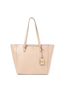 Ralph Lauren Leather Medium Halee Tote