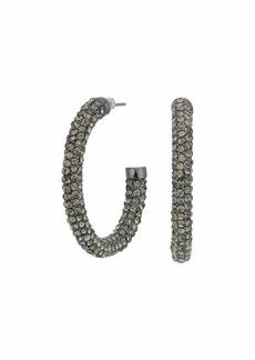 Ralph Lauren Medium Pave Hoop Earrings