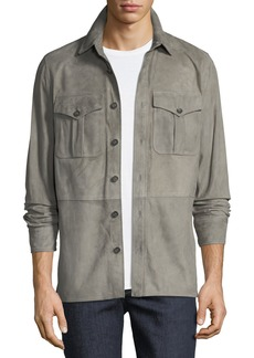 Ralph Lauren Men's Barron Suede Utility Jacket