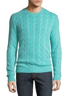 Ralph Lauren Men's Cashmere Cable-Knit Sweater